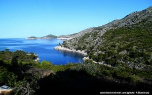 Bay and coastline on Lastovo
