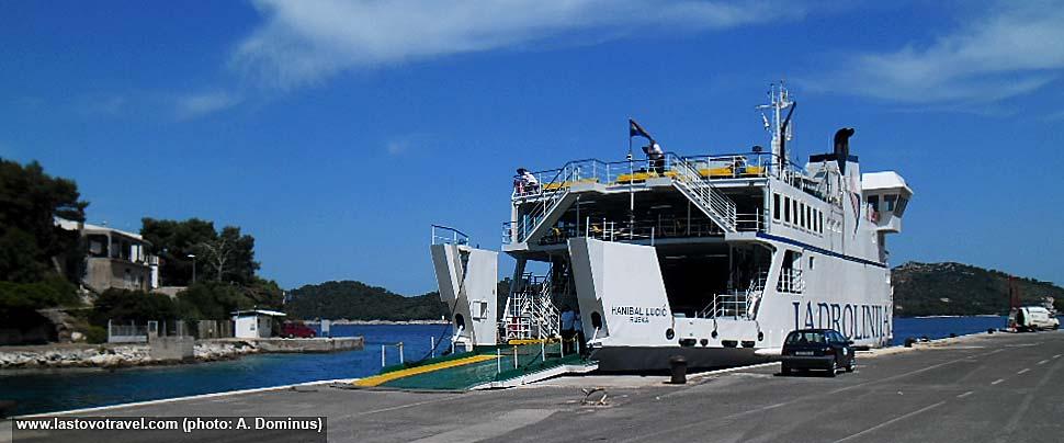 Car Ferry 'Hanibal Lucic' in Ubli ferry port @ Lastovo Island