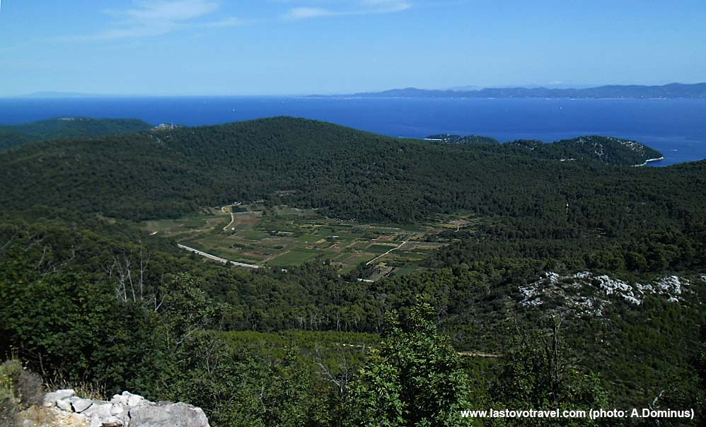 Views over fields on Lastovo island