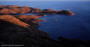 Sunset colours of Struga peninsula landscape , Lastovo Island