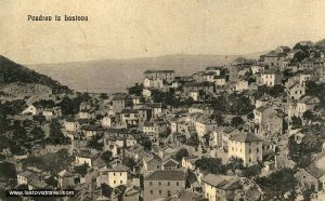 Panorama of Lastovo village from 1930s