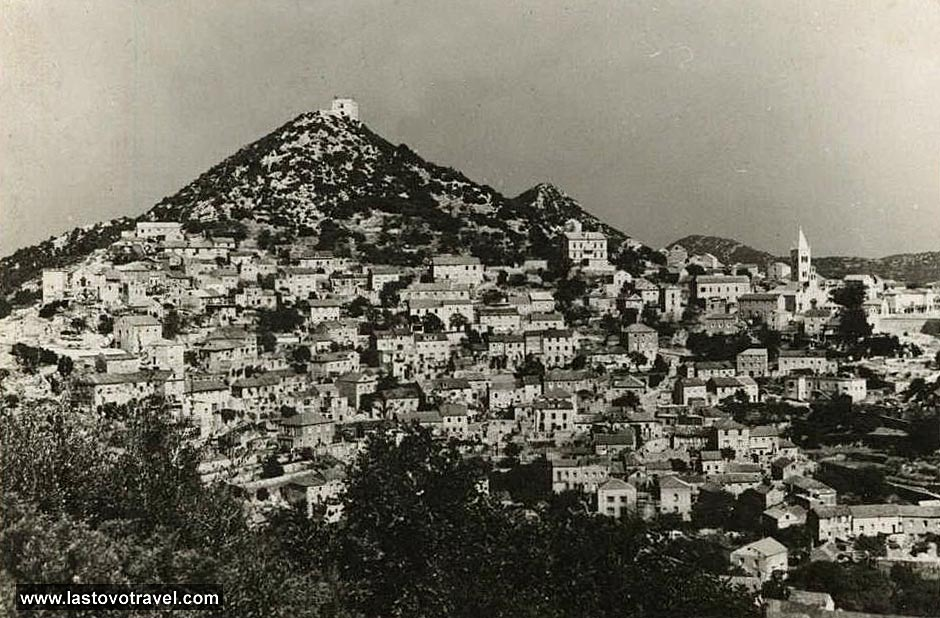 Panorama of Lastovo village from 1959