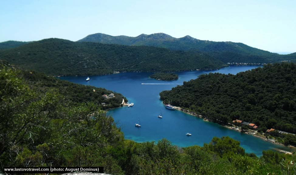 Views over Velo and Malo Lago, Lastovo