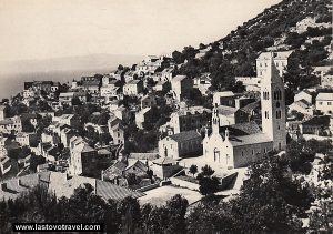 Panorama of Lastovo village from 1950s
