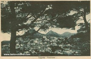 Panorama of Lastovo village from 1920s