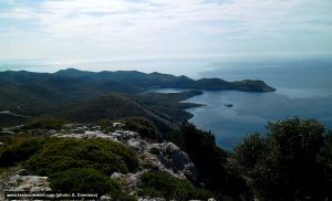 Skrivena Luka Bay viewed from Hum Hill, Lastovo