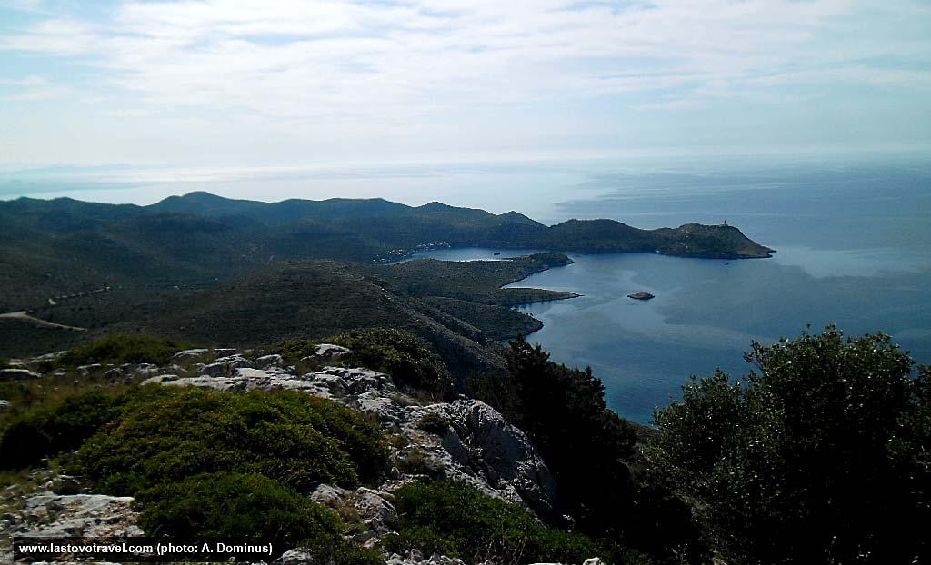 Skrivena Luka Bay viewed from Hum Hill, Lastovo