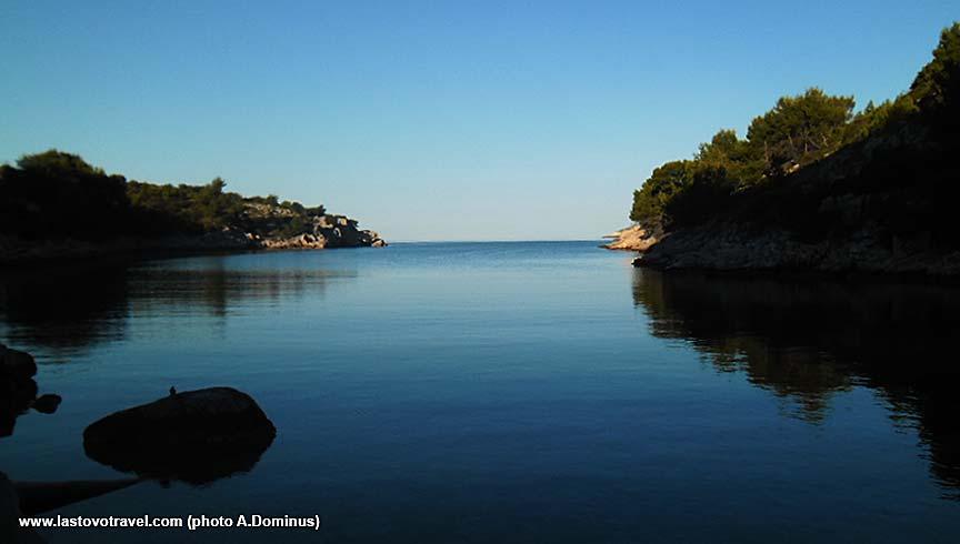 Uska bay on Lastovo Island