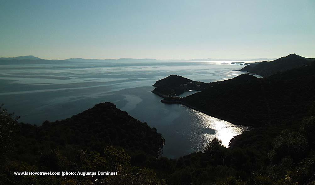 Archipelago panorama with Zaklopatica bay , Lastovo Island